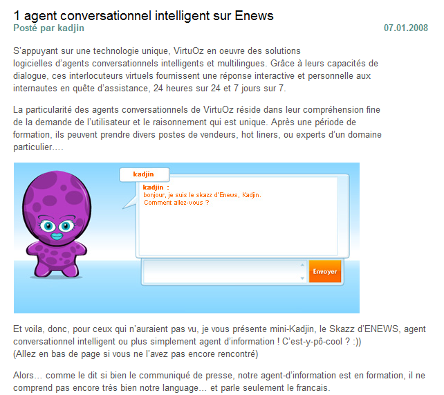 IV. Annexe Agent conversationnel Source : http://www.