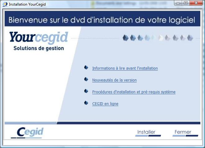 3. Installation de Cegid Business Maintenant, nous pouvons lancer l installation de Cegid Business.