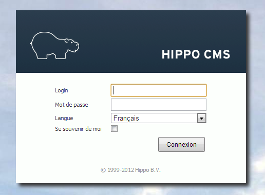 L interface de contribution d Hippo. L interface de contribution d Hippo CMS est une application distincte du site web de l ONRN.