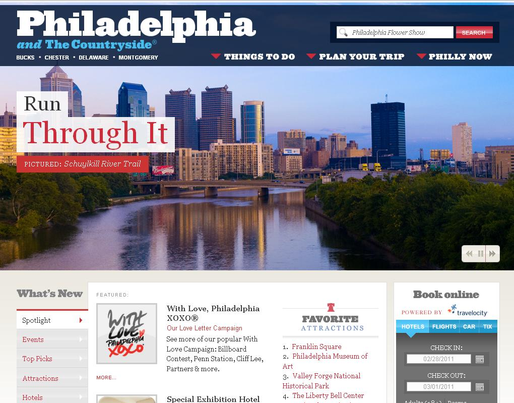 Création de sites non marchands Philadelphie dispose d un site institutionnel et