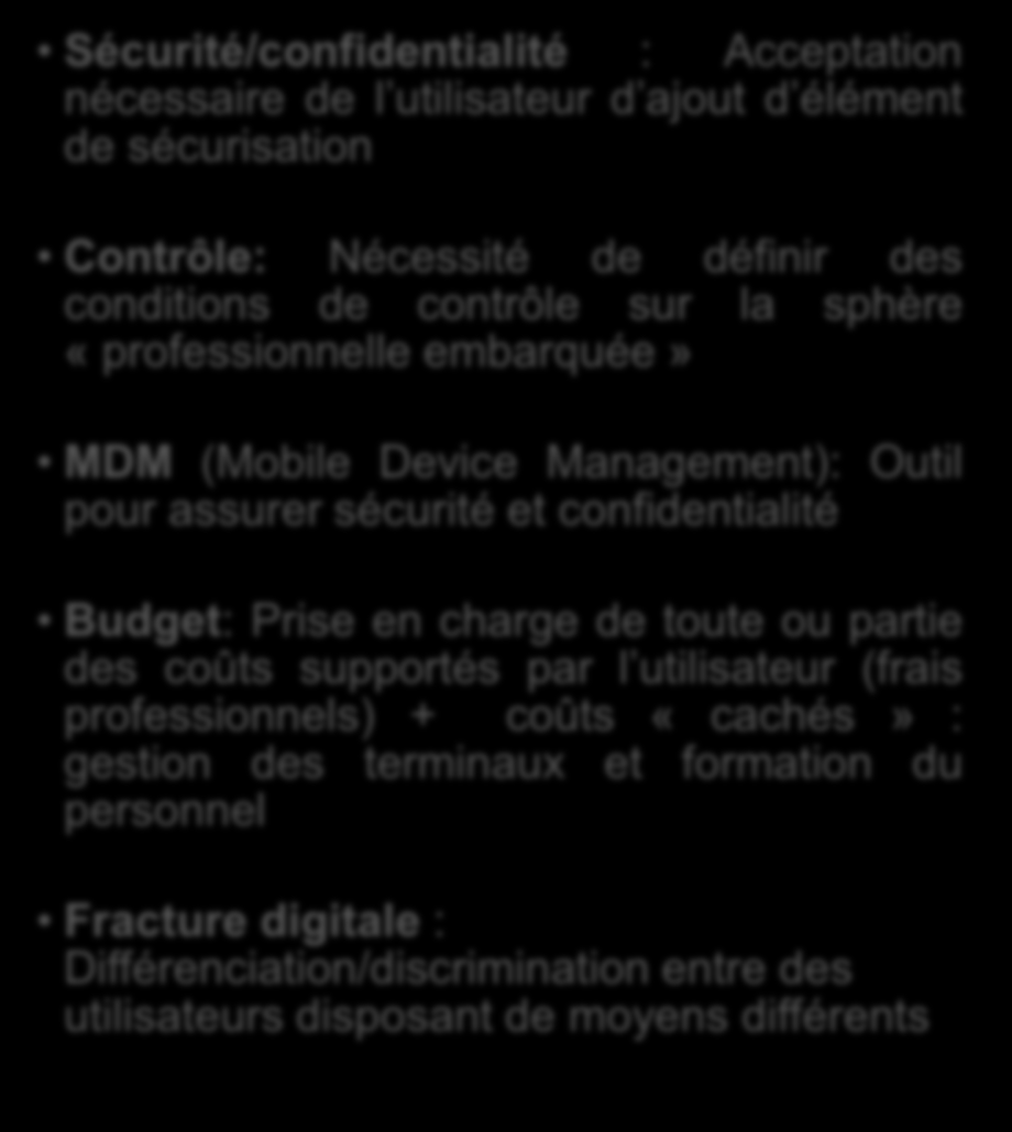 1.4 Vue économique Avantages Coût de formation: Peu voire aucun Coût de maintenance : Pas de maintenance en principe Coût d acquisition: Nul à l exception des applications demandées par l employeur