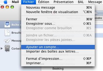 15 5.Configuraion de Mail (MAC) Aller dans le menu