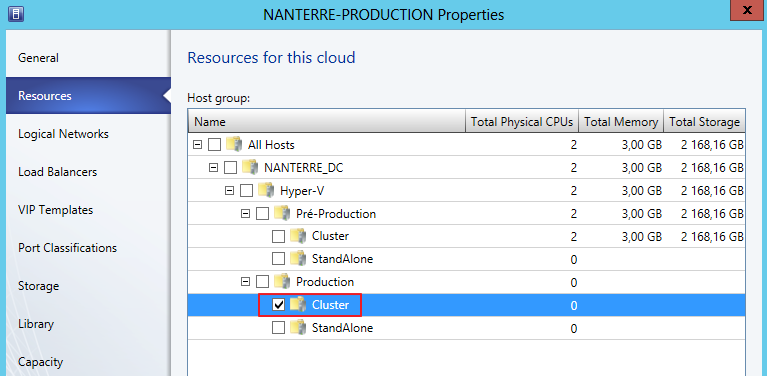 5 CREATION DES POOLS DE RESSOURCES (CLOUD) 5.