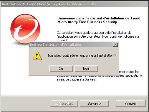 Guide d'installation de Trend Micro Worry-Free Business Security 7.