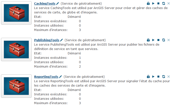 ArcGIS Server Manager Plusieurs