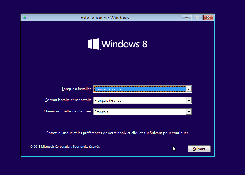 B. Procédure d installation d'un client Windows 8.