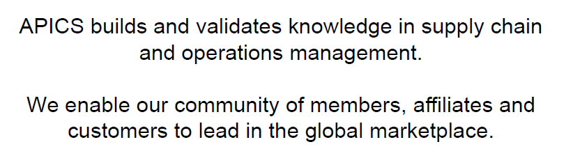 Global leader and premier source of the body of knowledge in operations management, including :