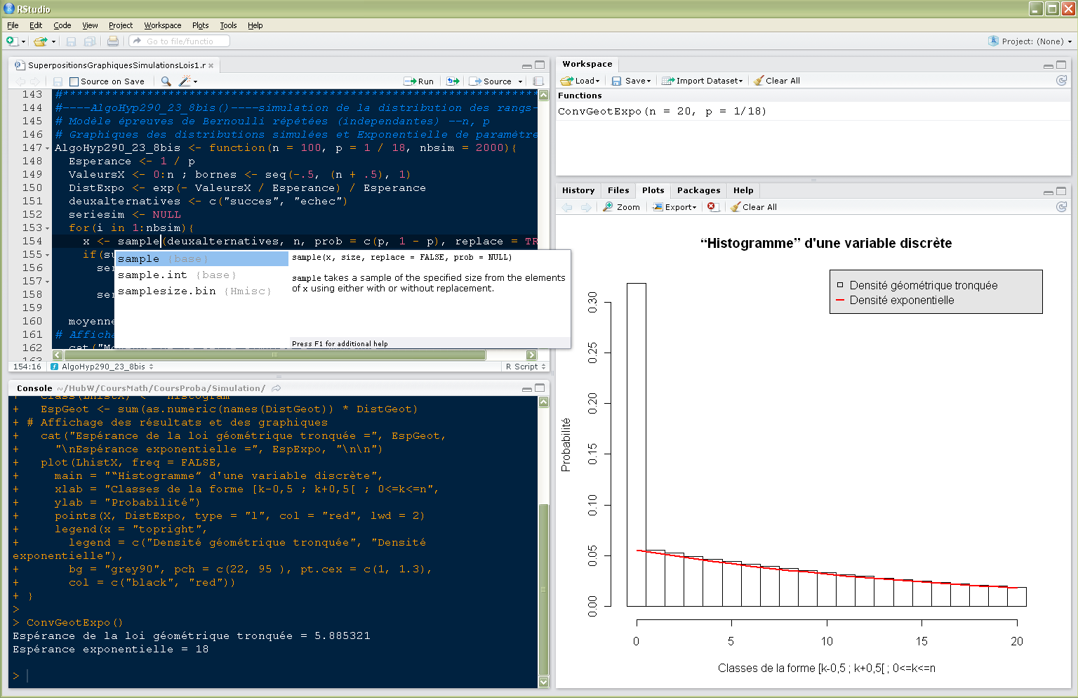 QUATRE DES INTERFACES DE R: I-INTRODUCTION 4 -RStudio :