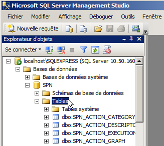 Le SQL Server Management doit tourner.