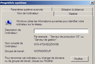 1) Télécharger le fichier Windows Server 2008.rar sur le serveur NAS de la section (@IP = 192.168.231.15).