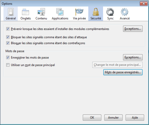 6B. Firefox 4 Examinons maintenant Firefox4. Ici, pas de noms «marketing» : InPrivate, Smartscreen, etc.