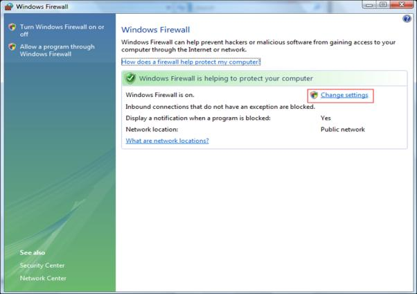 2. Choisir Pare-feu Windows [Windows Firewall] 3.