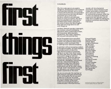 Le First things first manifesto de