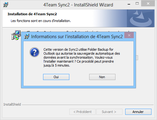 Sync2 Documentation SAUVEGRADE DE DOSSIER AUTOMATIQUE L'intégration de Sync2 à Folder Backup for Outlook permet d'étendre vos options pour sauvegarder automatiquement les données des dossiers de