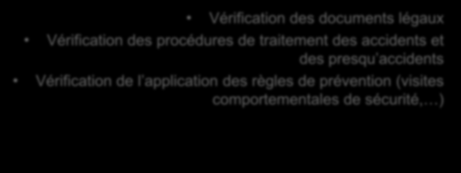 Des exemples de tests conduits CONDITIONS DE TRAVAIL Vérification de l âge minimum des collaborateurs Vérification des horaires de travail, des jours de repos et du traitement des heures