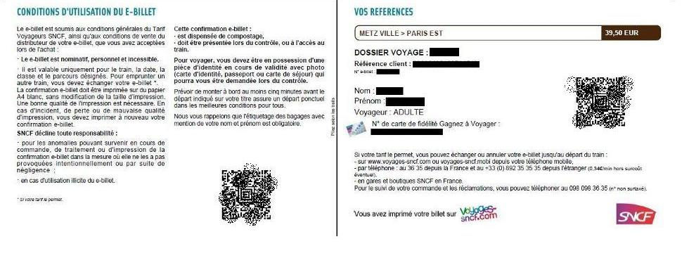 Document 8 E-billet : pas de ticket «papier», mais un grand nombre de données personnelles!