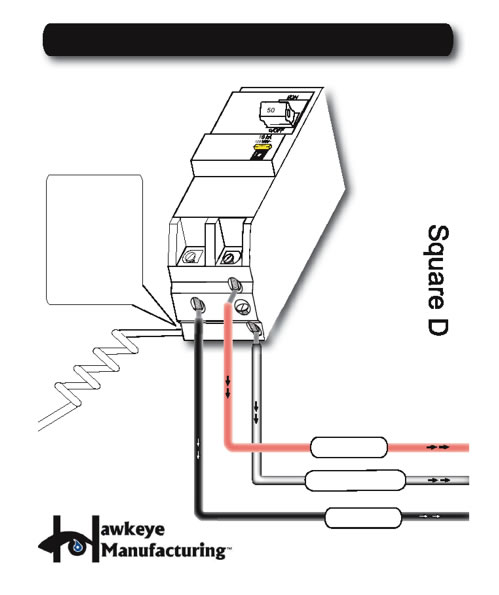 6 Electrical Wiring Square D Diagram 240V GCFI SPA WIRING DIAGRAM FOR CERTIFIED ELECTRICIANS REFERENCE ONLY IMPORTANT: The white neutral wire from the back of the CFGI MUST be connected to an