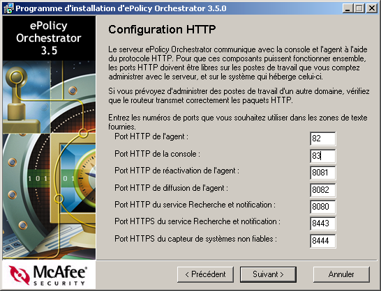 Guide d installation d epolicy Orchestrator 3.5 Mise à niveau vers epolicy Orchestrator 3.