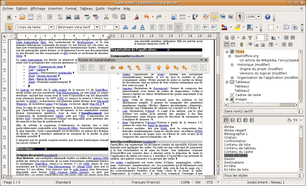 La suite LibreOffice