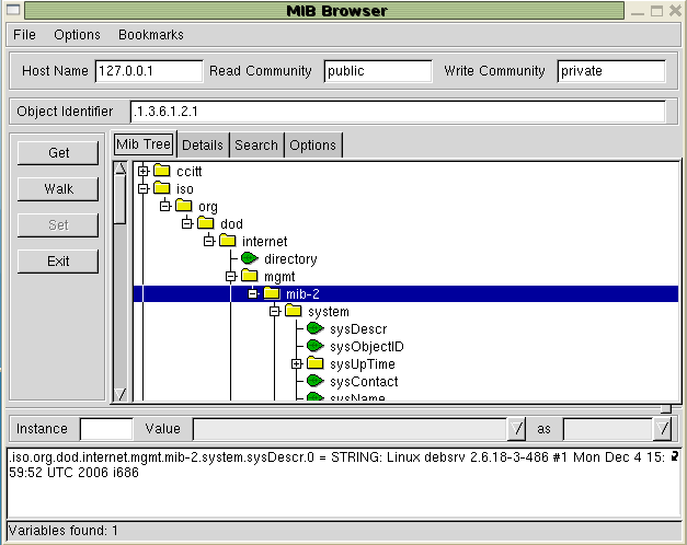 Figure 3 - mbrowse example screenshot 5.1.