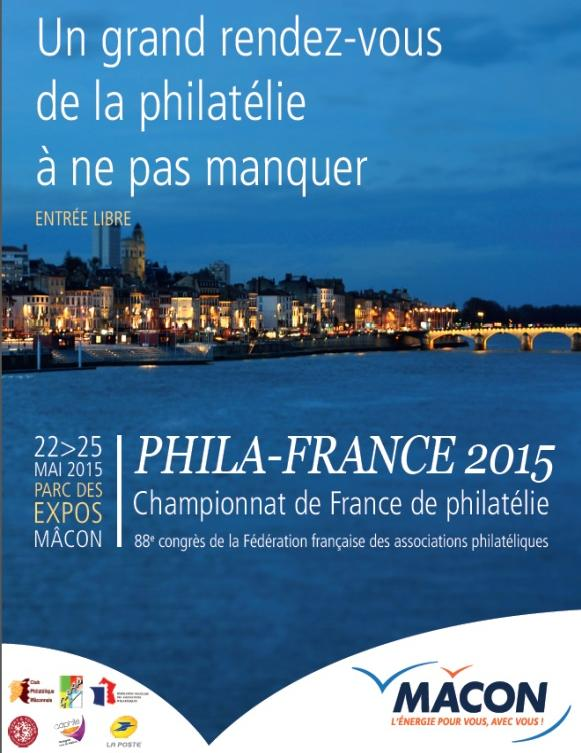 MACON DU 22 AU 25 MAI 2015 PHILA-FRANCE 2015 Championnat