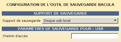 Les sauvegardes La sauvegarde EOLE IP de la machine distante le nom du Partage ; optionnellement le Login, le Mot de passe.