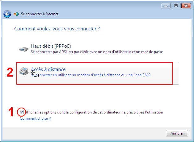 "Etape 5 : Cochez l'option ""Afficher les options dont la configuration de"