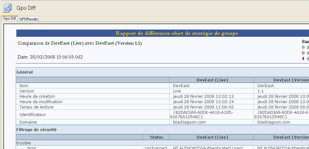 Nouveautés de Quest Group Policy Manager Version 4.