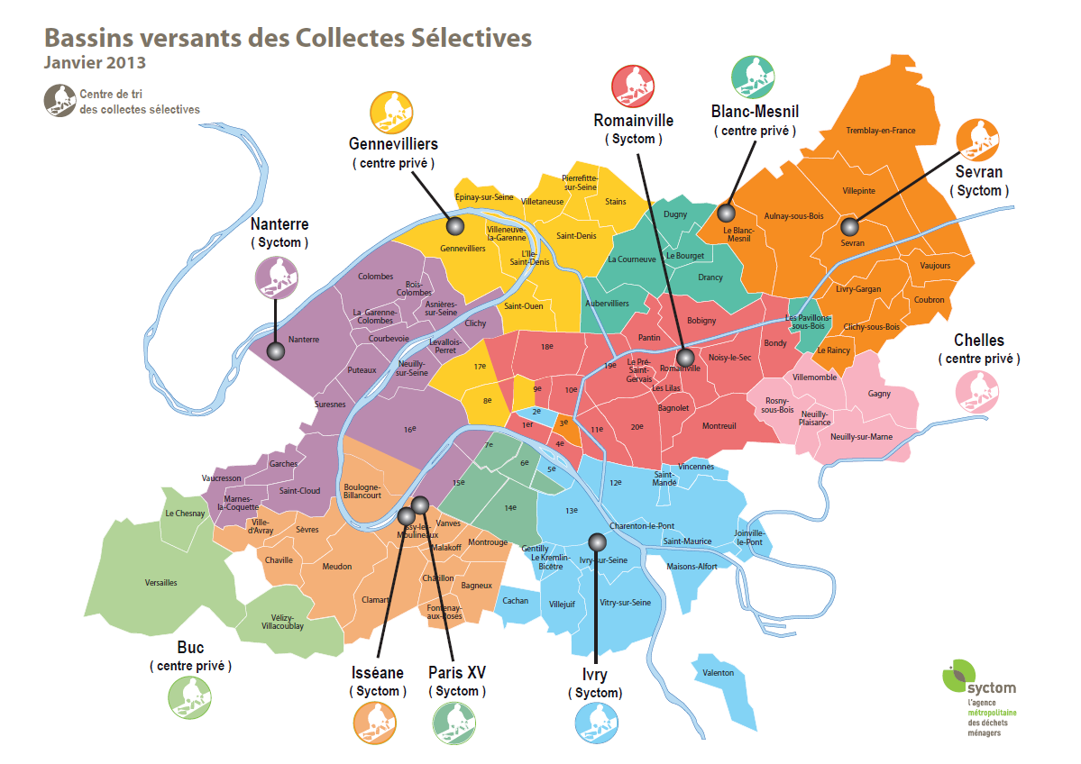 BASSINS VERSANTS DES COLLECTES SELECTIVES 13