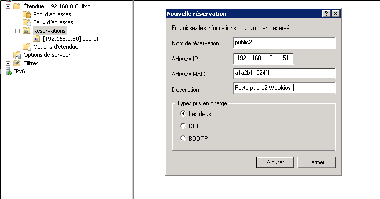 3. Configuration du serveur dhcp Windows 3.