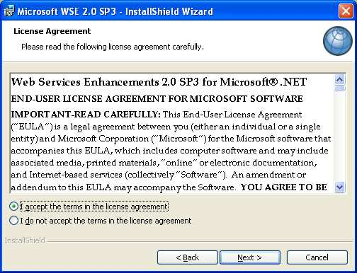 Choisir «Install» Choisir «I accept the terms in the license agreement»