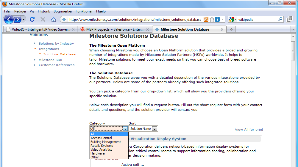 2.2 Solutions Database sorting by