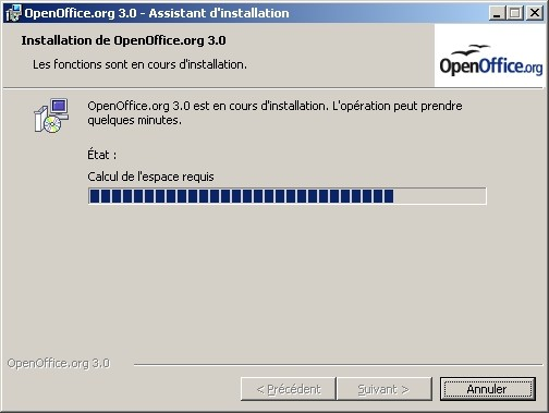 L'installation commence vraiment.