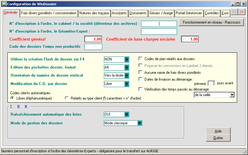 Comment configurer correctement WinDossier?