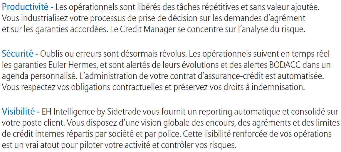 EH Intelligence by Sidetrade Une