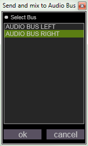 Envoyer l audio vers un bus existant Vous pouvez également choisir d envoyer votre flux audio vers une bus existant (ici du subpatch soft distortion (browser/library/audio fx/)) vers un bus déjà