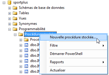 procedure_name AS : Nom que l on souhaite donné à la procédure stockée.