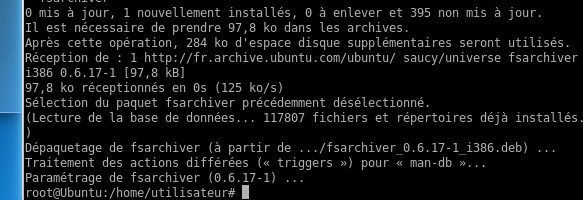 L aide (le manuel) ne fait pas plus de 200 Lignes NAME fsarchiver - filesystem archiver DESCRIPTION fsarchiver is a system tool that allows you to save the contents of a filesystem to a compressed
