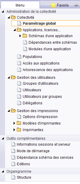 1 Civil Net Administration Gestion des applications 1.