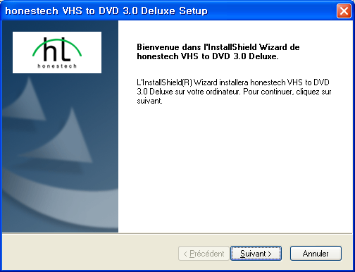 8. honestech 3. Installation de VHS to DVD 3.0 Deluxe de honestech 3.1. Installation du logicielvhs to DVD 3.0 Deluxe de honestech 3.1.1. Insérez le CD d installation dans le lecteur de CD/DVD de votre ordinateur.