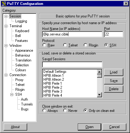 2. Utilisation PuTTY / WinSCP Ouverture de session ssh via PuTTY Lancer PuTTY