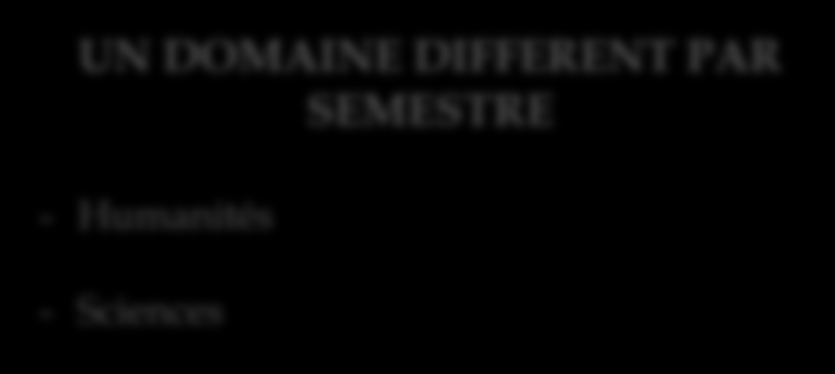 UN DOMAINE DIFFERENT PAR