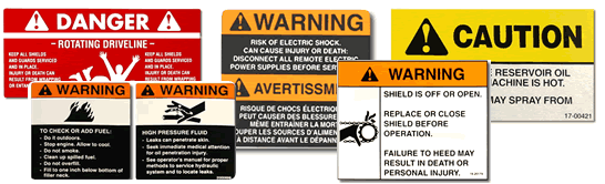 Copyright 2014 Rockwell Automation, Inc. All Rights Reserved. 230 UL508A Markings and Labels En Europe les règles ISO 7001. Aux USA, ANSI Z535 and Occupational Safety and Health (OSHA 1910.145).