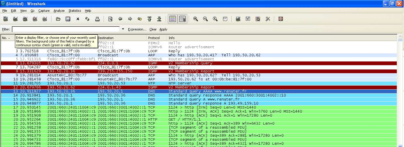 Outils d analyse Wireshark (ex ethereal),