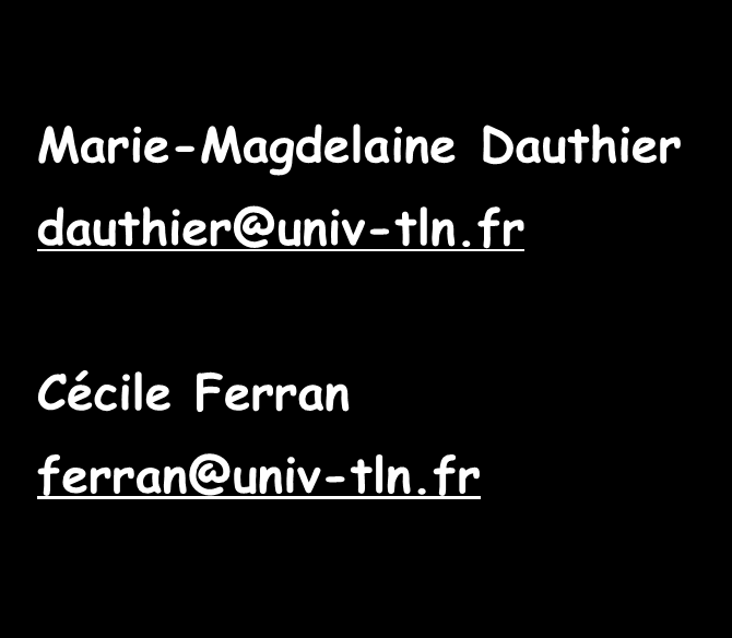 Contacts Marie-Magdelaine Dauthier