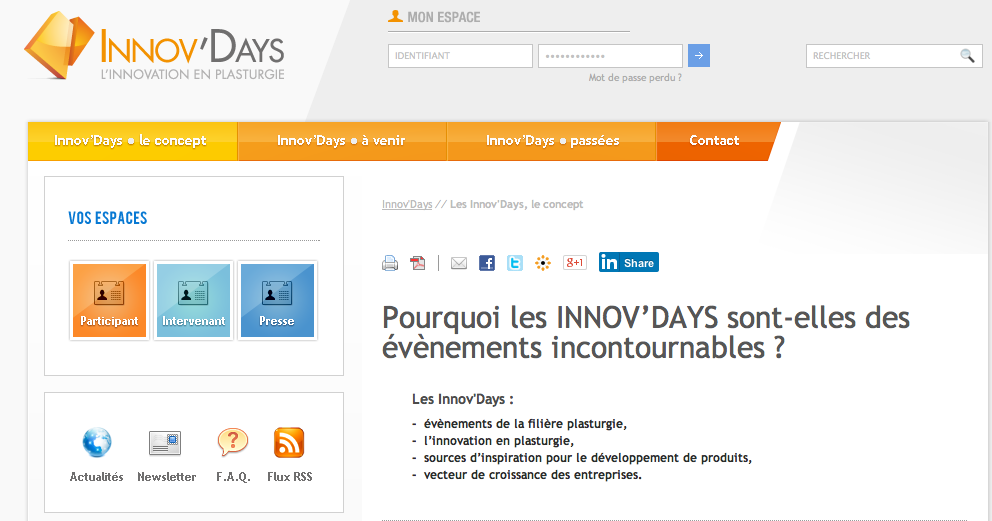 > Les Innov Days : sources d inspiration!