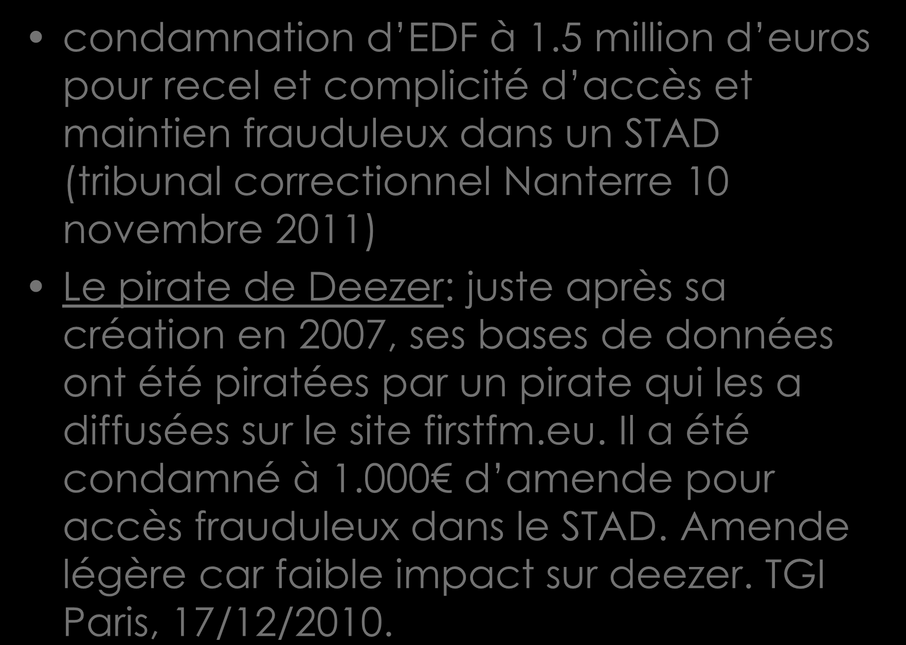 condamnation d EDF à 1.