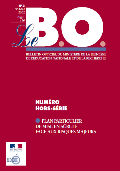 3 LES DOCUMENTS DISPONIBLES O / N Plans de masse de l établissement Cartes de la commune BO spécial n 3 du 30 mai 2002 Documents de l Observatoire National de la Sécurité DDRM (Préfecture)