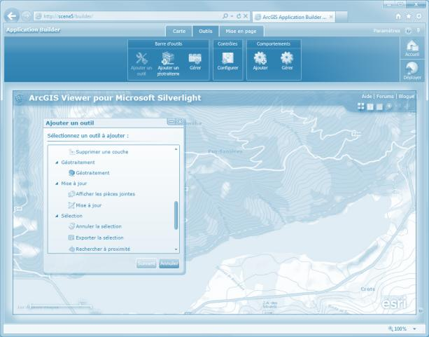 ArcGIS Viewer for Silverlight Paramétrer