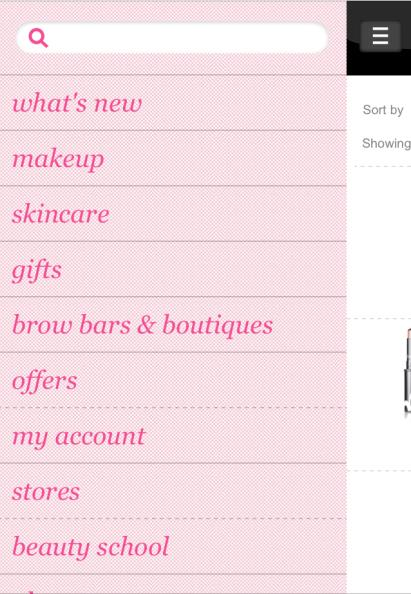 com/fr_fr/ ANALYSE Sur les sites mobiles Sephora, Benefit et